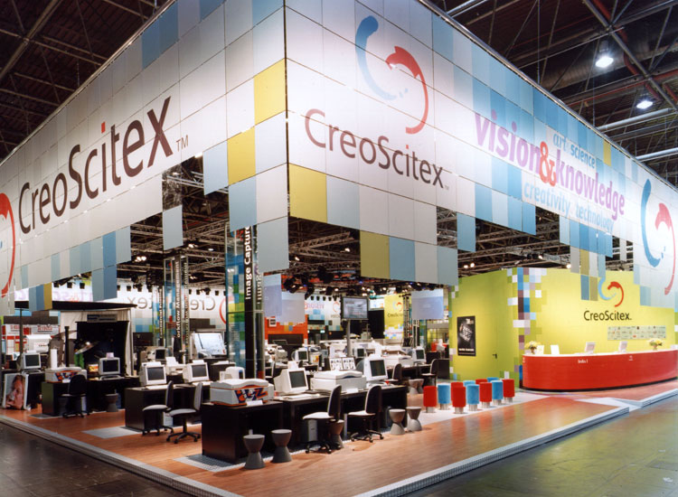 CreoScitex booth at Drupa 2000 (Dusseldorf, Germany)